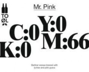 To Ol Mr. Pink 33cl.